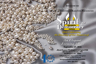 Join The 40th Anniversary Celebration of NCBCP  At The 19th Annual Spirit of Democracy Awards