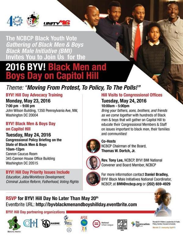 NCBCP: Black Youth Vote/Black Male Initiative Hold Men