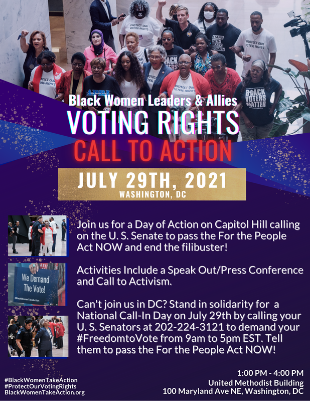 Join us for the Black Women Leaders & Allies Call to Action Week 3! Learn more at BlackWomenTakeAction.org